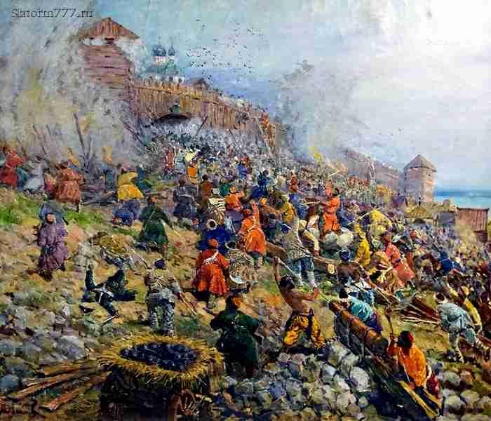 Взятие Царицына войсками Булавина.